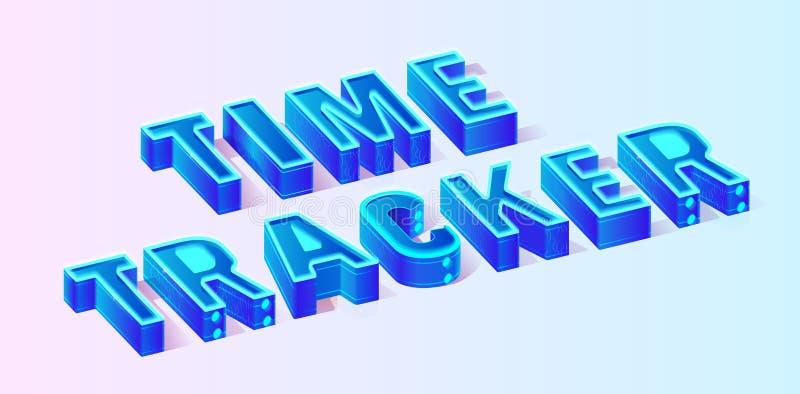 Μπλε Isometric έμβλημα σύνθεσης χρονικών ιχνηλατών ελεύθερη απεικόνιση δικαιώματος