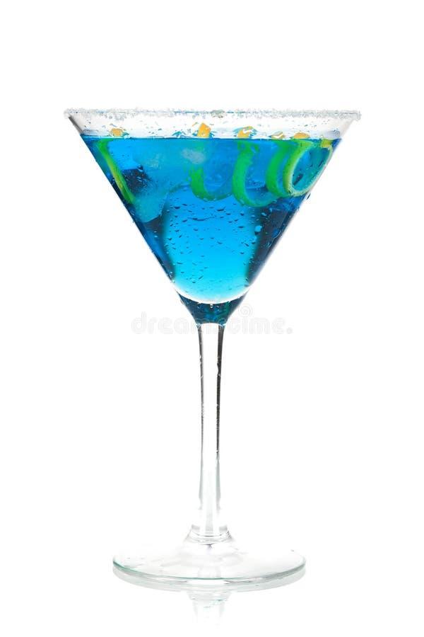 μπλε martini λεμονιών σπείρα στοκ εικόνες με δικαίωμα ελεύθερης χρήσης