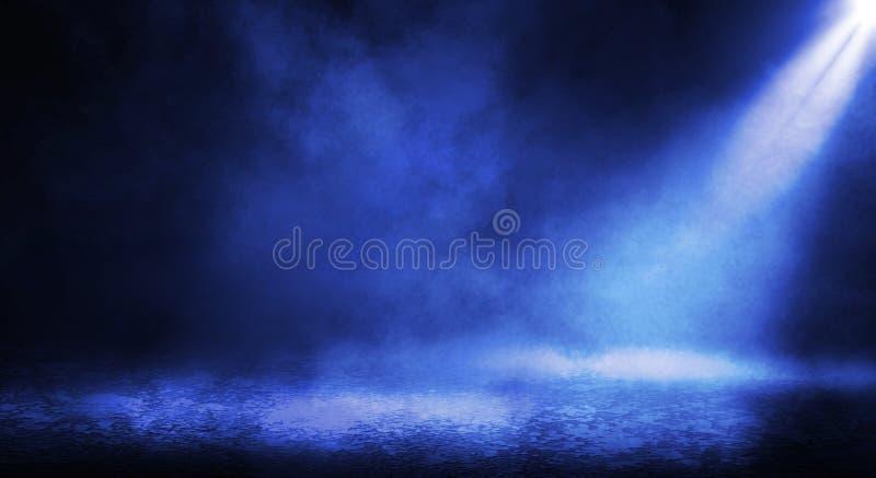 Μπλε misty σκοτεινό υπόβαθρο στοκ εικόνες