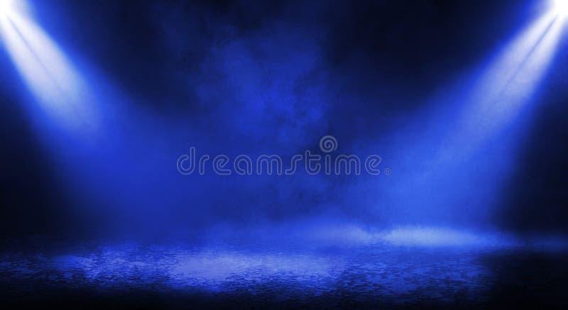 Μπλε misty σκοτεινό υπόβαθρο στοκ φωτογραφίες με δικαίωμα ελεύθερης χρήσης