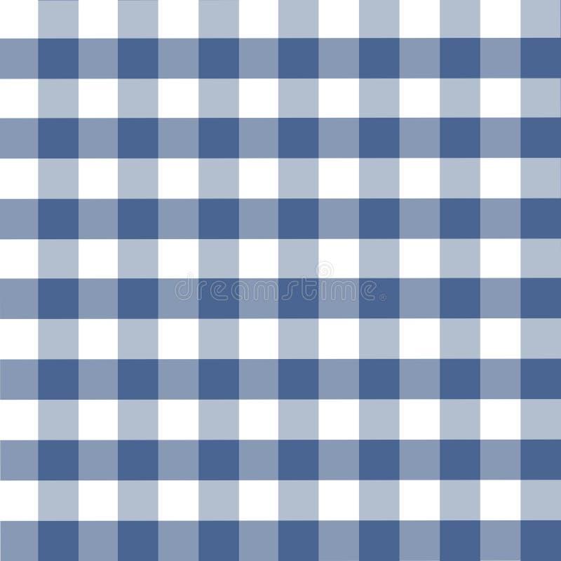 μπλε plaid προτύπων ελεύθερη απεικόνιση δικαιώματος