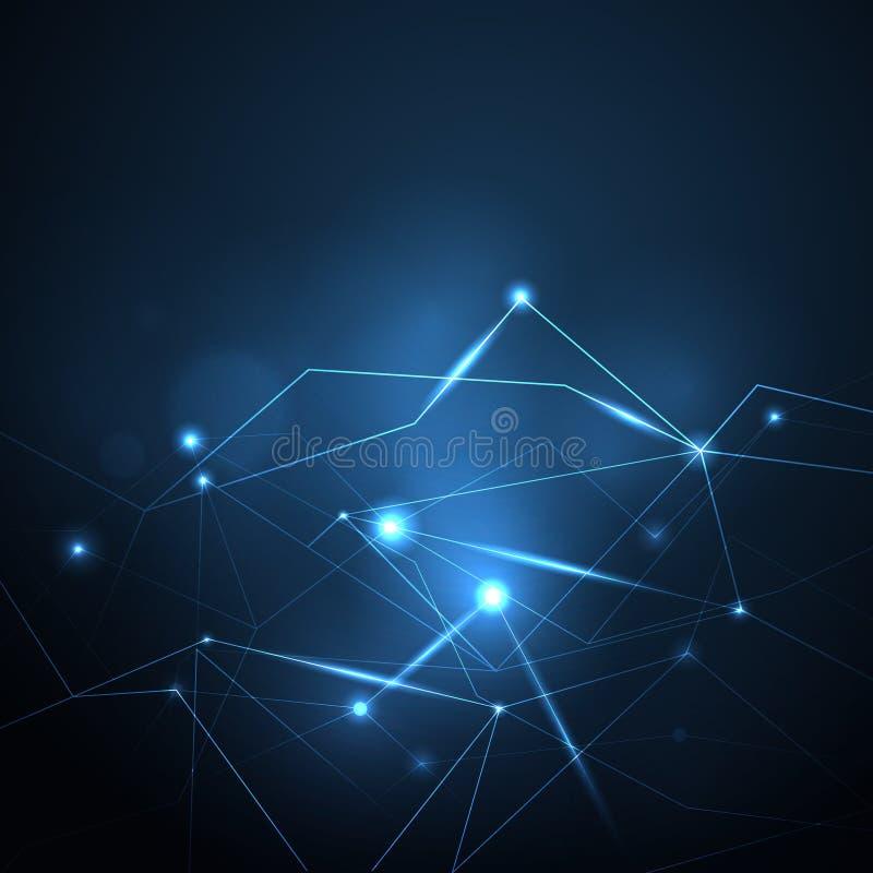 Μπλε polygonal πλέγμα πυράκτωσης απεικόνισης abstrack wiith ελεύθερη απεικόνιση δικαιώματος