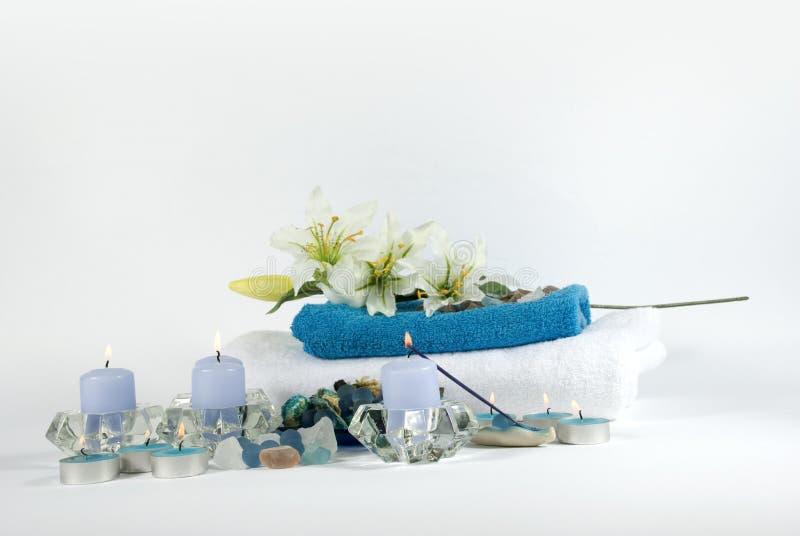 μπλε products spa λευκό στοκ φωτογραφία με δικαίωμα ελεύθερης χρήσης