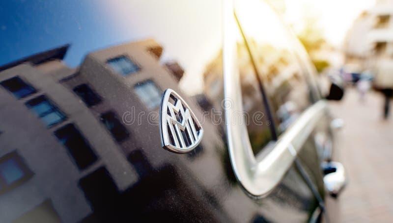 Μπλε s600 limousine Mercedes-Maybach πολυτέλειας στοκ φωτογραφίες