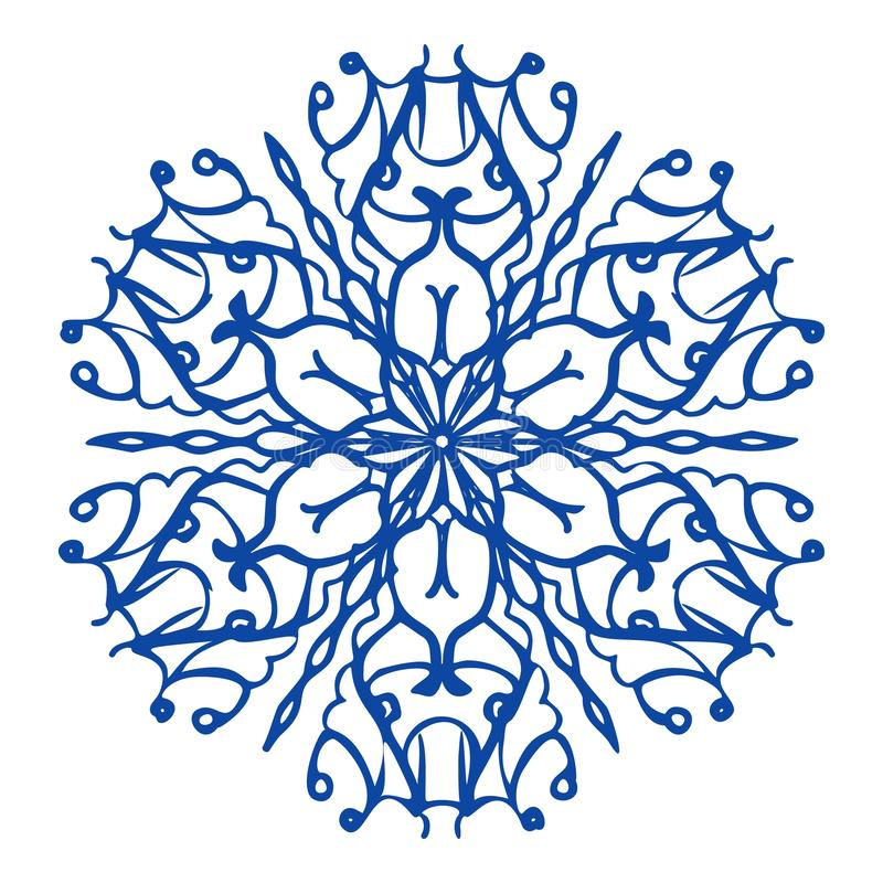 Μπλε snowflake εικονίδιο, απλό ύφος απεικόνιση αποθεμάτων
