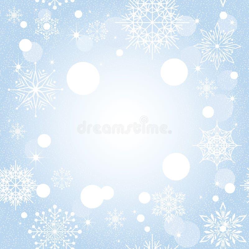 μπλε snowflake Χριστουγέννων ανα&s απεικόνιση αποθεμάτων