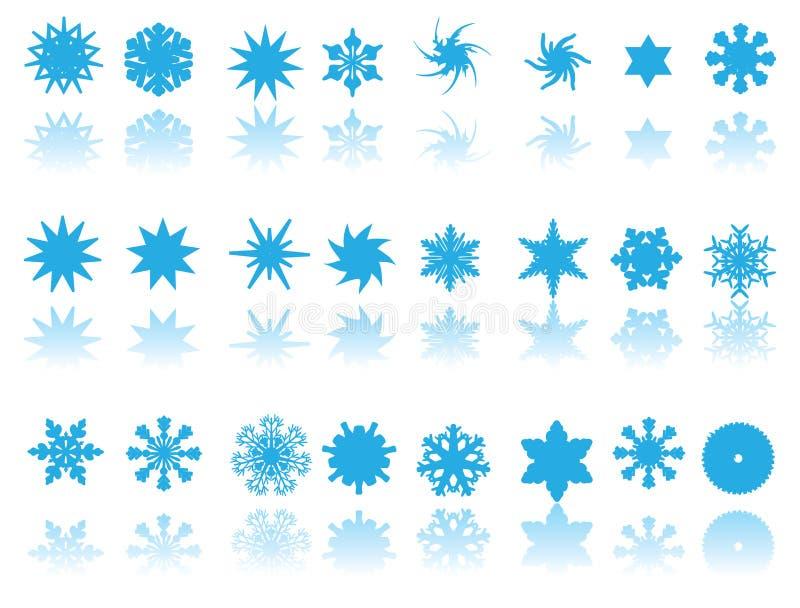 μπλε snowflakes ανασκόπησης λευ&kap διανυσματική απεικόνιση