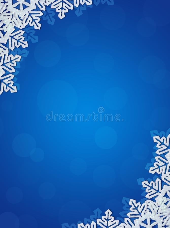 μπλε snowflakes ανασκόπησης ελεύθερη απεικόνιση δικαιώματος