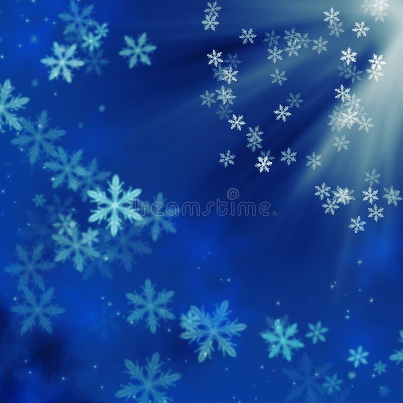Download μπλε Snowflakes Χριστουγέννων ανα& Στοκ Εικόνα - εικόνα από κάρτα, χιόνι: 17053715