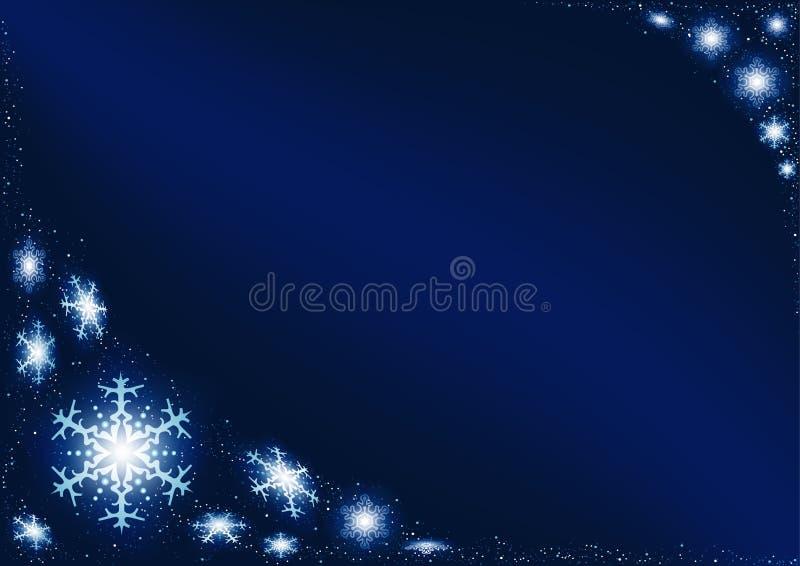 μπλε snowflakes Χριστούγεννα απεικόνιση αποθεμάτων