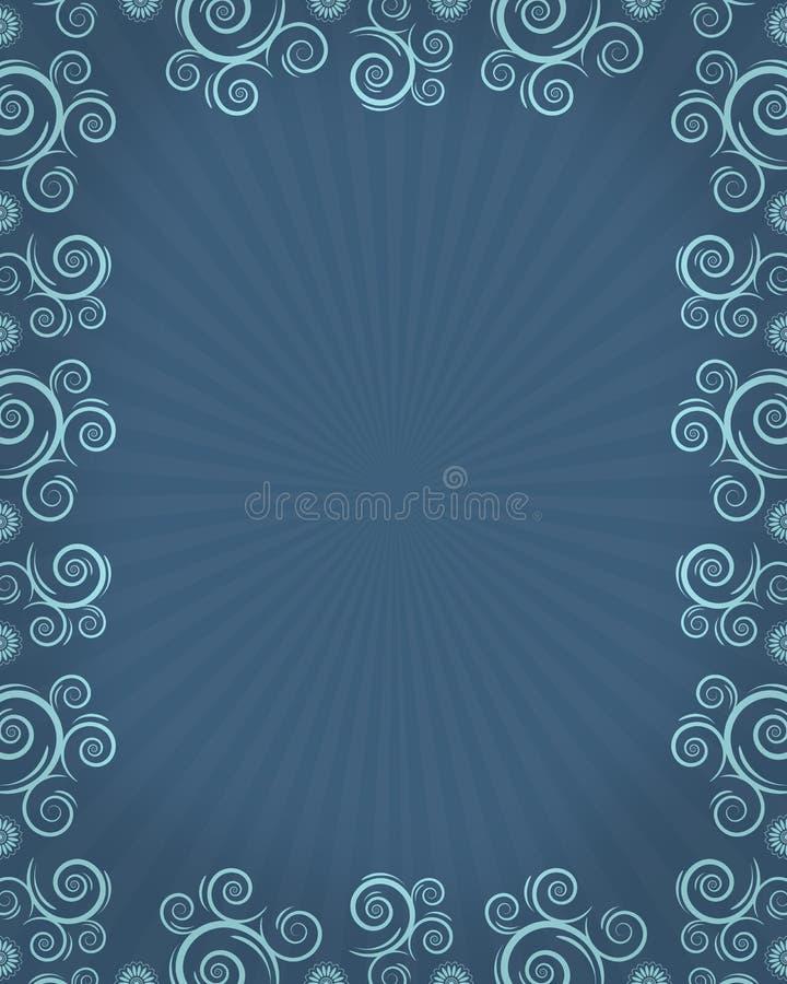 μπλε twirls πλαισίων διανυσματική απεικόνιση