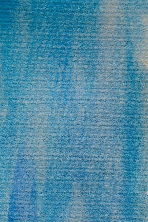μπλε watercolor κτυπημάτων βουρτσ Ζωηρόχρωμο χρωματισμένο χέρι watercolor Μπλε watercolor σε κατασκευασμένο χαρτί στοκ φωτογραφία