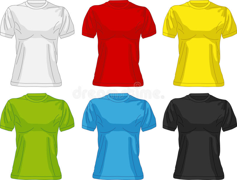 Μπλούζες για τις γυναίκες ελεύθερη απεικόνιση δικαιώματος