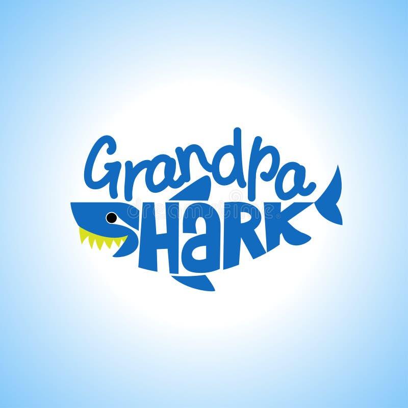 Μπλούζες Doo Doo Doo καρχαριών Grandpa, Hoodie, δεξαμενή ελεύθερη απεικόνιση δικαιώματος