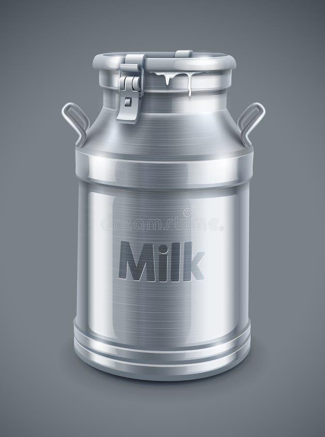 Μπορέστε εμπορευματοκιβώτιο για το διάνυσμα γάλακτος ελεύθερη απεικόνιση δικαιώματος