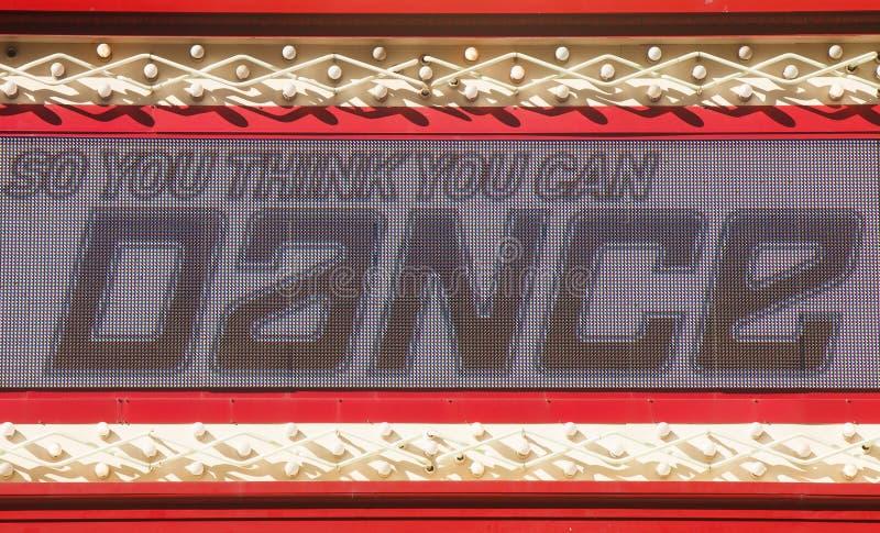 μπορέστε να χορεψετε αναμμένο σημάδι σας σκέφτεται στοκ φωτογραφίες με δικαίωμα ελεύθερης χρήσης