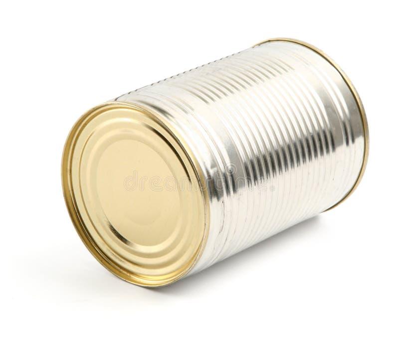 μπορέστε τρόφιμα να κονσερβοποιήσετε το λευκό στοκ φωτογραφία με δικαίωμα ελεύθερης χρήσης
