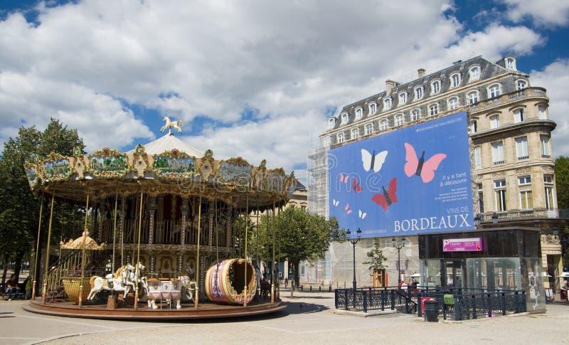 ΜΠΟΡΝΤΩ, ΓΑΛΛΙΑ - 6 ΣΕΠΤΕΜΒΡΊΟΥ 2015: Εκλεκτής ποιότητας ιπποδρόμιο σε Allï ¿ ½ ES de Tourny, Μπορντώ, Aquitaine, Γαλλία, το Σεπτ στοκ φωτογραφία με δικαίωμα ελεύθερης χρήσης