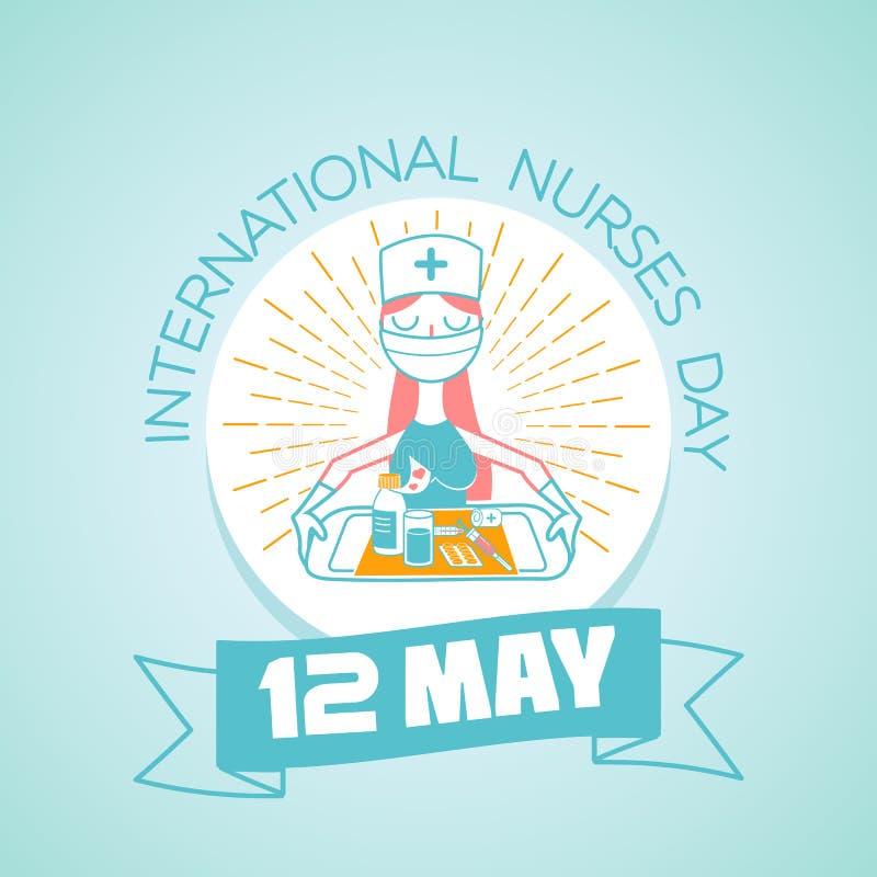 12 μπορούν διεθνής ημέρα νοσοκόμων ελεύθερη απεικόνιση δικαιώματος