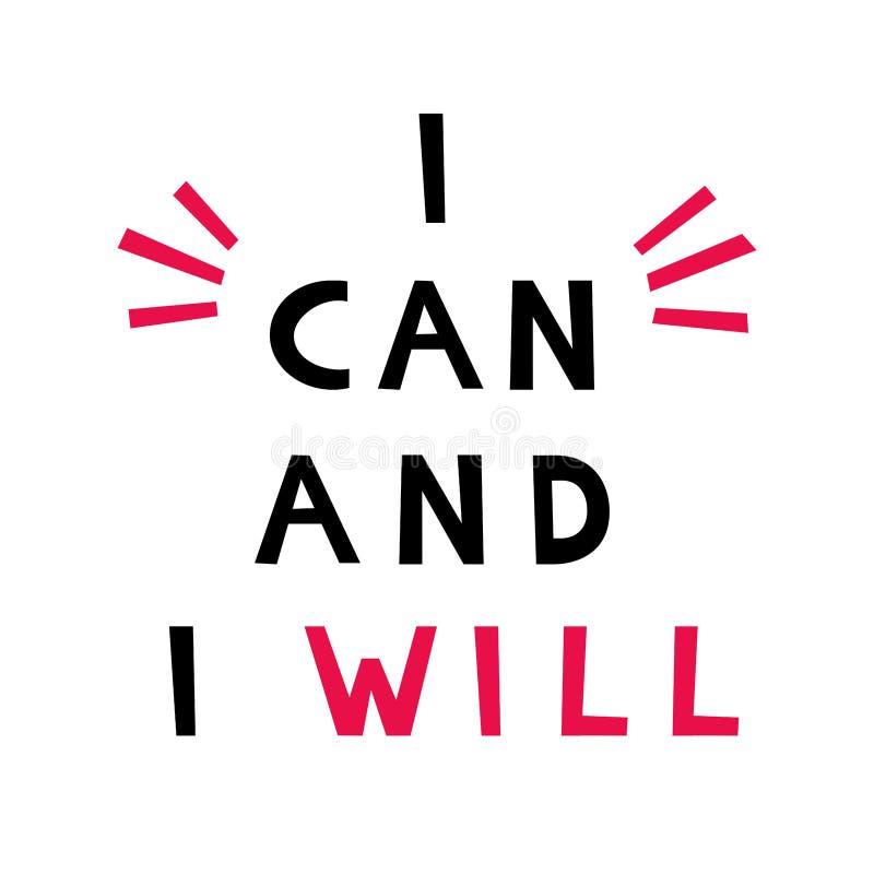 Μπορώ και r Έννοια σχεδίου αφισών Φράση για τους επιχειρησιακούς στόχους, mentoring, μόνη ανάπτυξη απεικόνιση αποθεμάτων