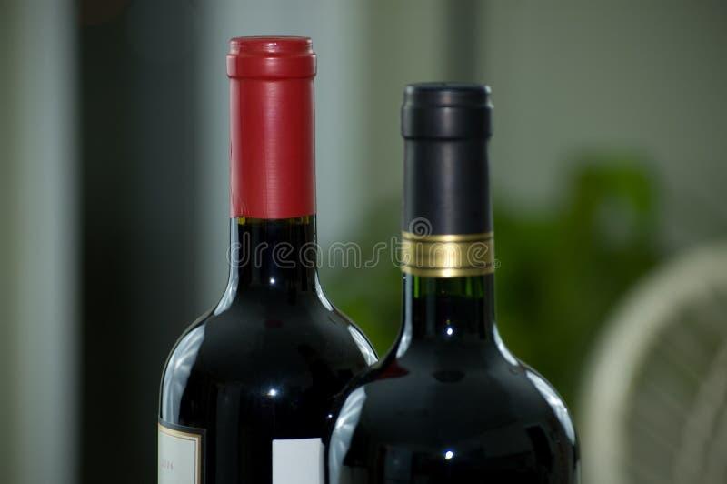 μπουκάλια δύο κρασί στοκ φωτογραφία με δικαίωμα ελεύθερης χρήσης