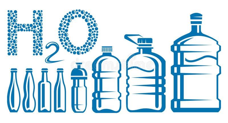 Μπουκάλια νερό απεικόνιση αποθεμάτων