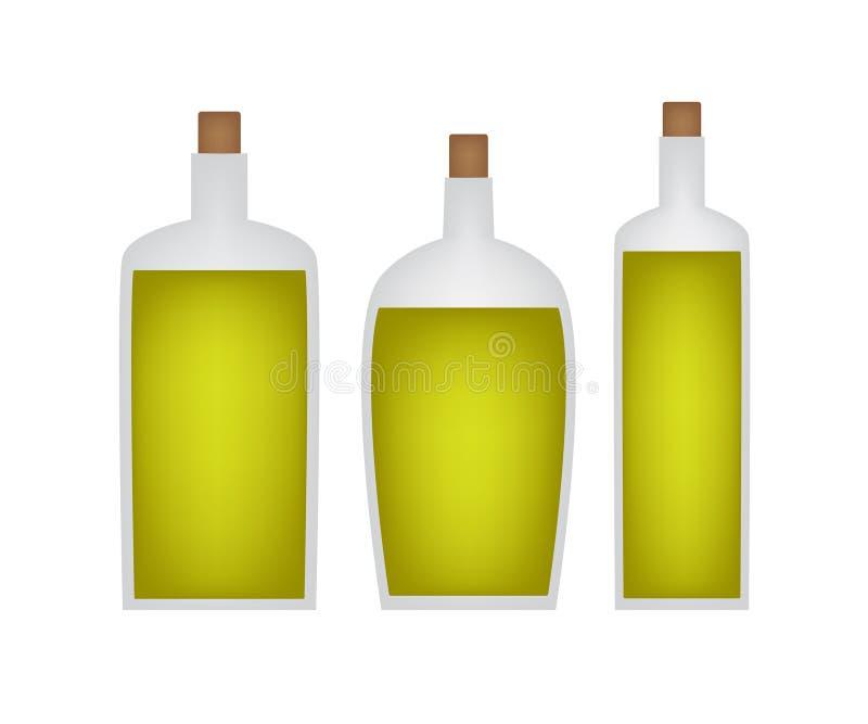 Μπουκάλια του εικονιδίου ελαιολάδου ελεύθερη απεικόνιση δικαιώματος