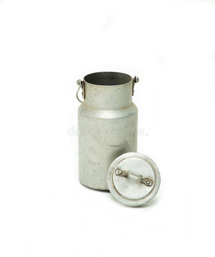 Μπουκάλι γάλακτος αργιλίου στοκ φωτογραφίες