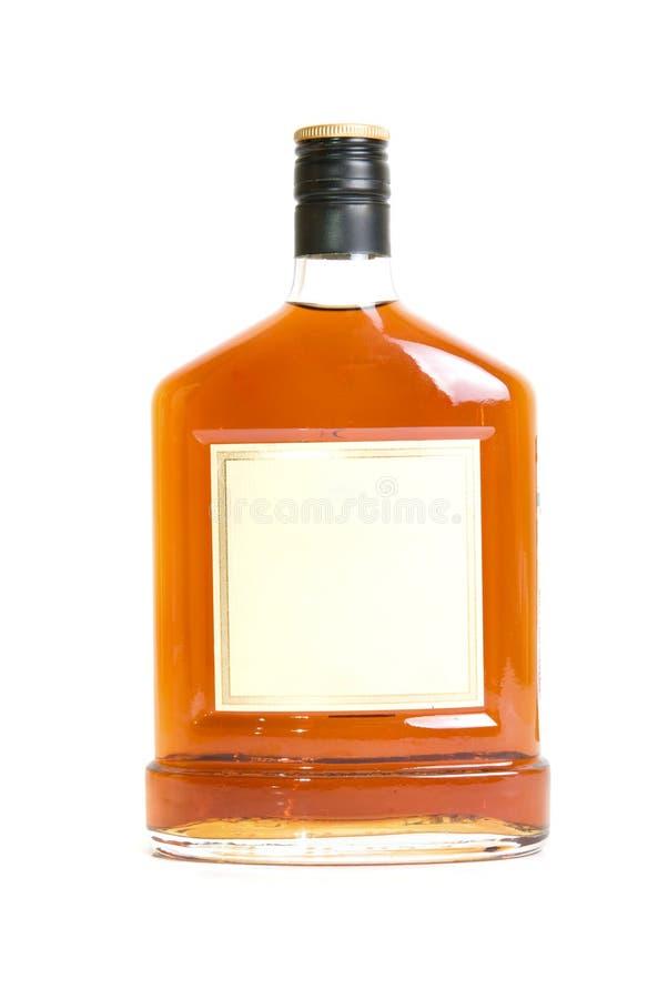 Μπουκάλι κονιάκ στοκ εικόνα με δικαίωμα ελεύθερης χρήσης