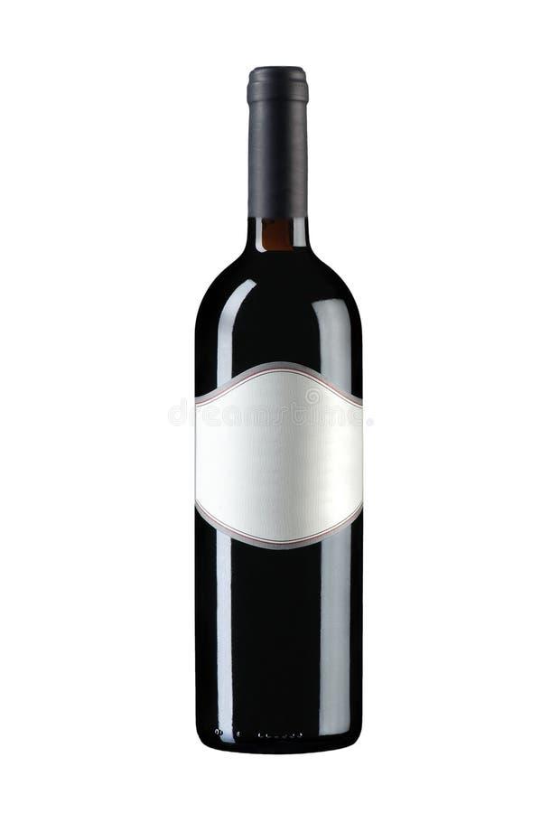 Μπουκάλι κρασιού που απομονώνεται στοκ φωτογραφία με δικαίωμα ελεύθερης χρήσης