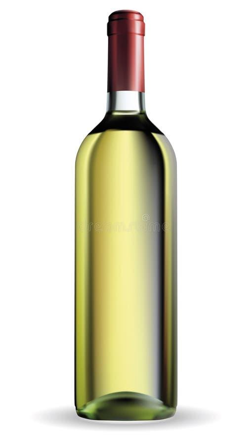 Μπουκάλι κρασιού διανυσματική απεικόνιση