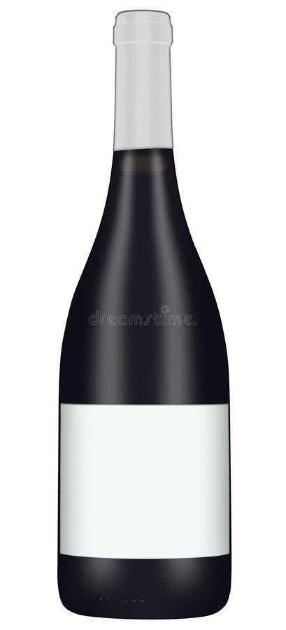 Μπουκάλι 1 κόκκινου κρασιού στοκ εικόνα