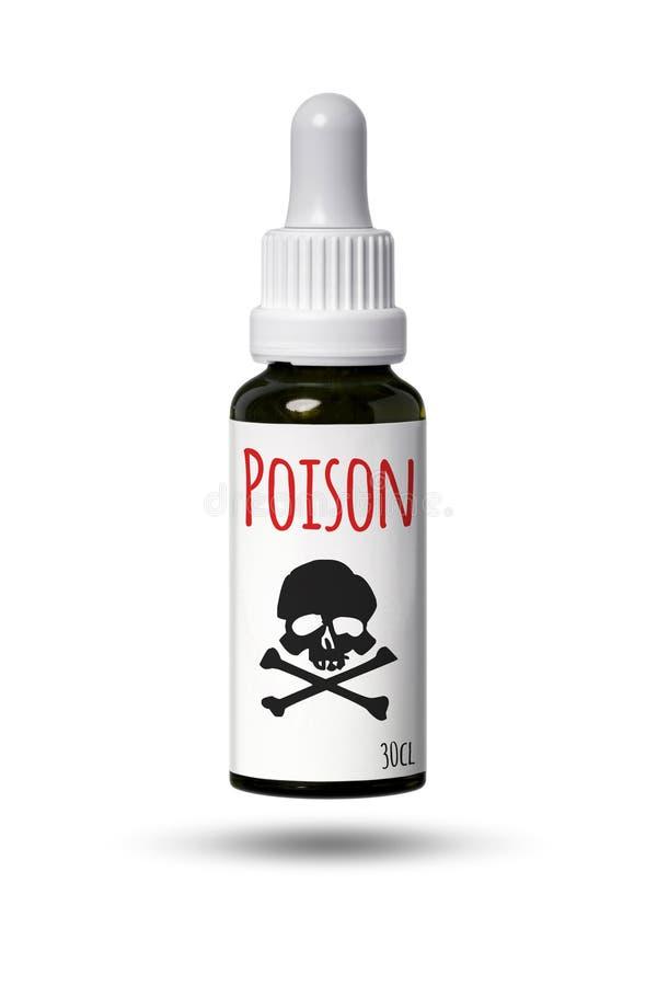 μπουκάλι με το κρανίο και το δηλητήριο στοκ φωτογραφία