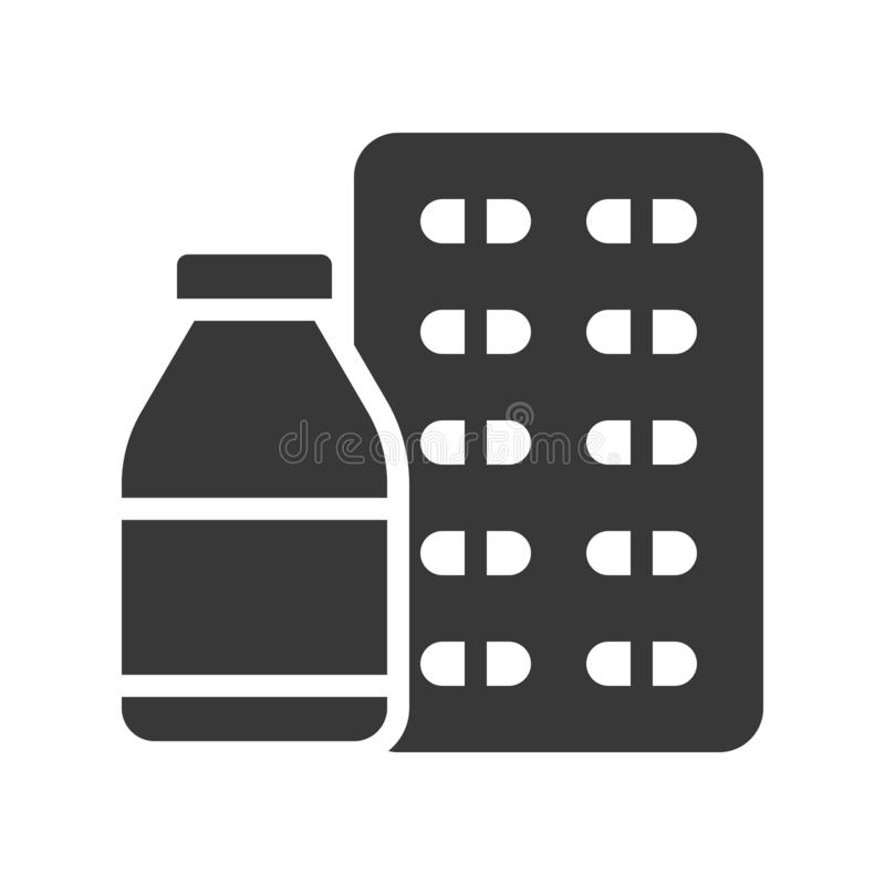 Μπουκάλι σιροπιού και κάψα, υγειονομική περίθαλψη και ιατρικό σχετικό στερεό ι ελεύθερη απεικόνιση δικαιώματος