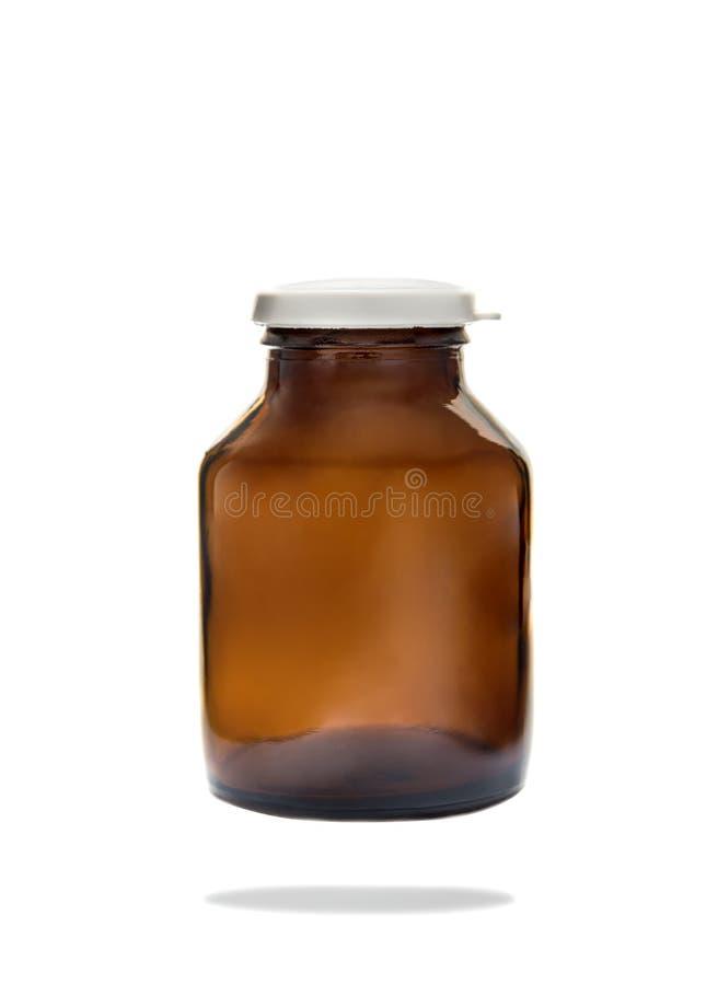 Μπουκάλι χαπιών βιταμινών που απομονώνεται στο άσπρο υπόβαθρο στοκ εικόνες με δικαίωμα ελεύθερης χρήσης