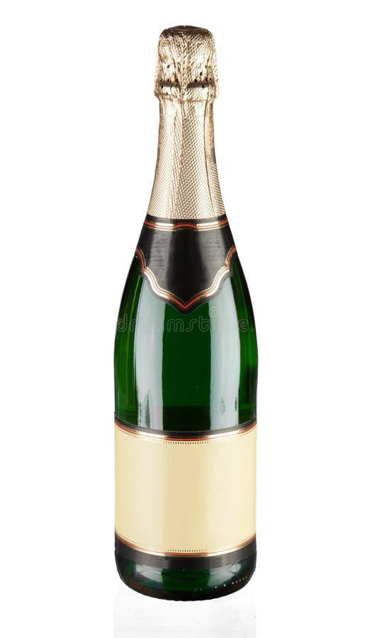Μπουκάλι CHAMPAGNE με μια κενή ετικέτα στοκ φωτογραφία με δικαίωμα ελεύθερης χρήσης