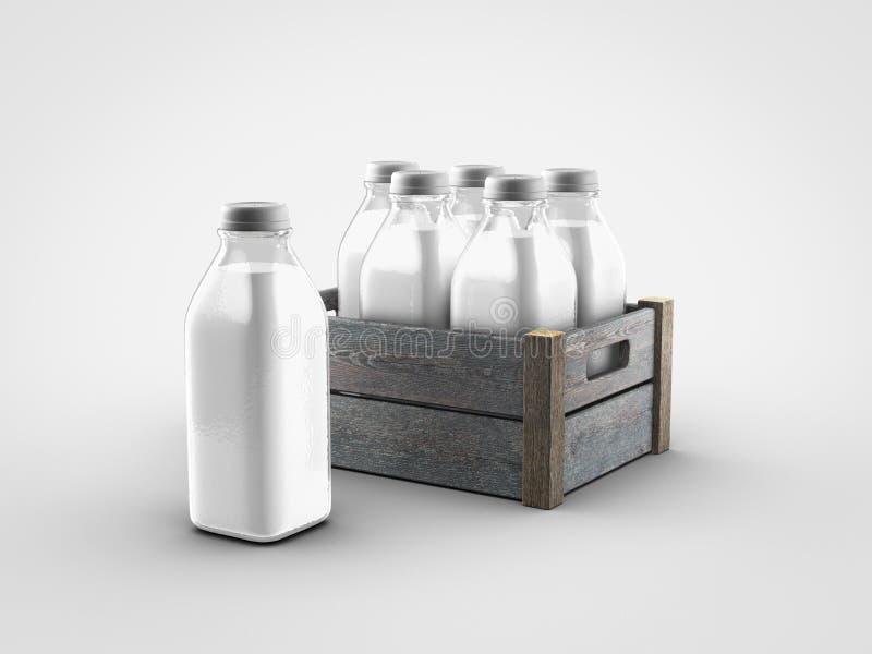Μπουκάλια γάλακτος διανυσματική απεικόνιση