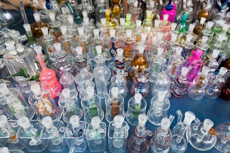 Μπουκάλια γυαλιού hookah στοκ εικόνες με δικαίωμα ελεύθερης χρήσης