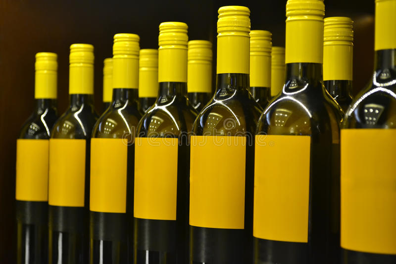 Μπουκάλια κρασιού στοκ εικόνες
