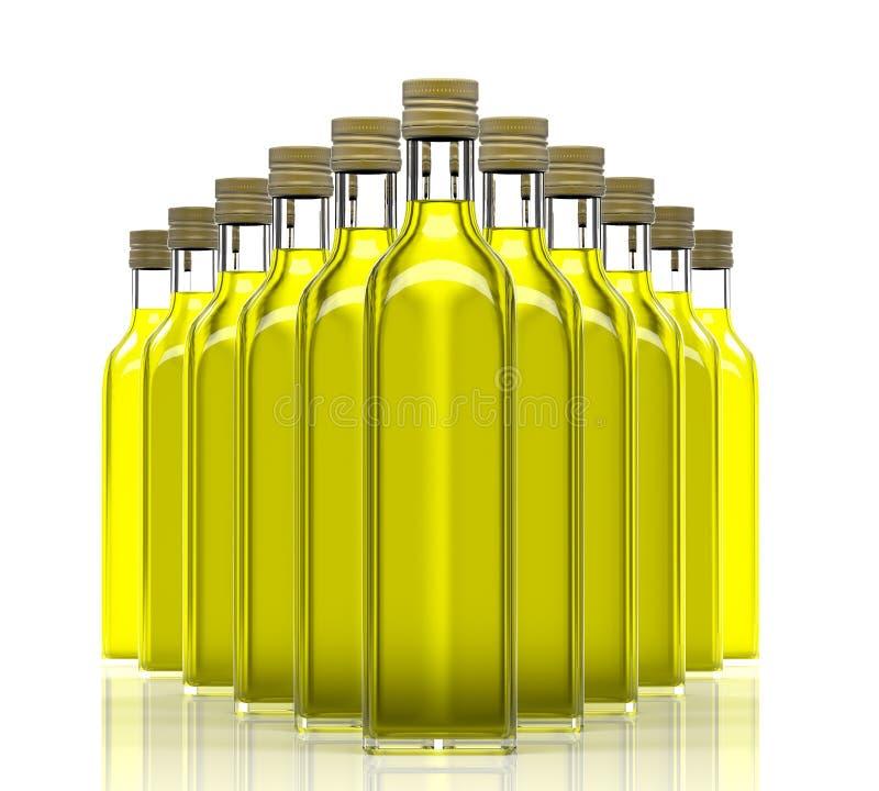 Μπουκάλια με το ελαιόλαδο διανυσματική απεικόνιση
