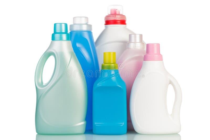 Μπουκάλια με το ρευστό πλύσης στοκ εικόνες