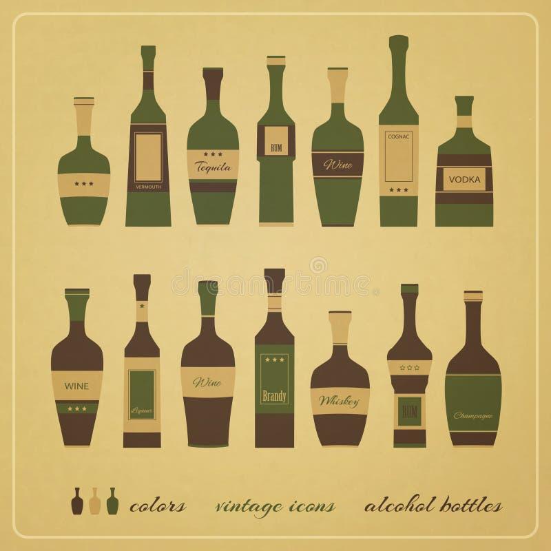 Μπουκάλια οινοπνεύματος ελεύθερη απεικόνιση δικαιώματος