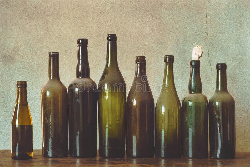 μπουκάλια παλαιά στοκ εικόνες
