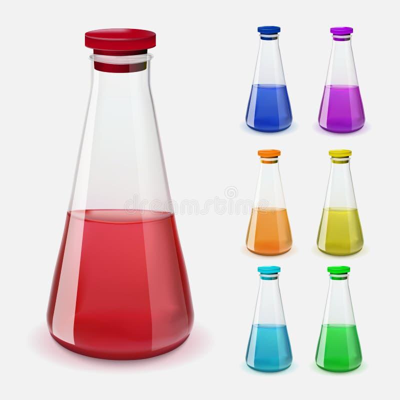 Μπουκάλια της φίλτρου επίσης corel σύρετε το διάνυσμα απεικόνισης διανυσματική απεικόνιση