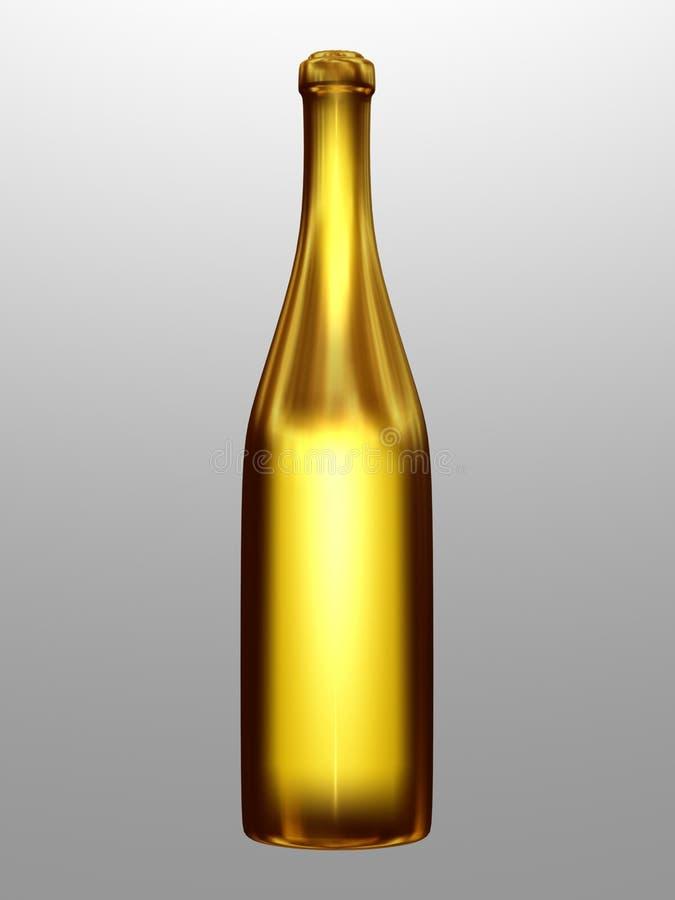 Μπουκάλι αμπέλων διανυσματική απεικόνιση