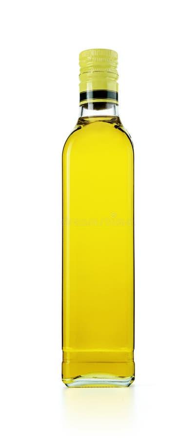 Μπουκάλι γυαλιού του ελαιολάδου, που απομονώνεται στο άσπρο υπόβαθρο Το αρχείο περιέχει ένα μονοπάτι στην απομόνωση στοκ φωτογραφία με δικαίωμα ελεύθερης χρήσης