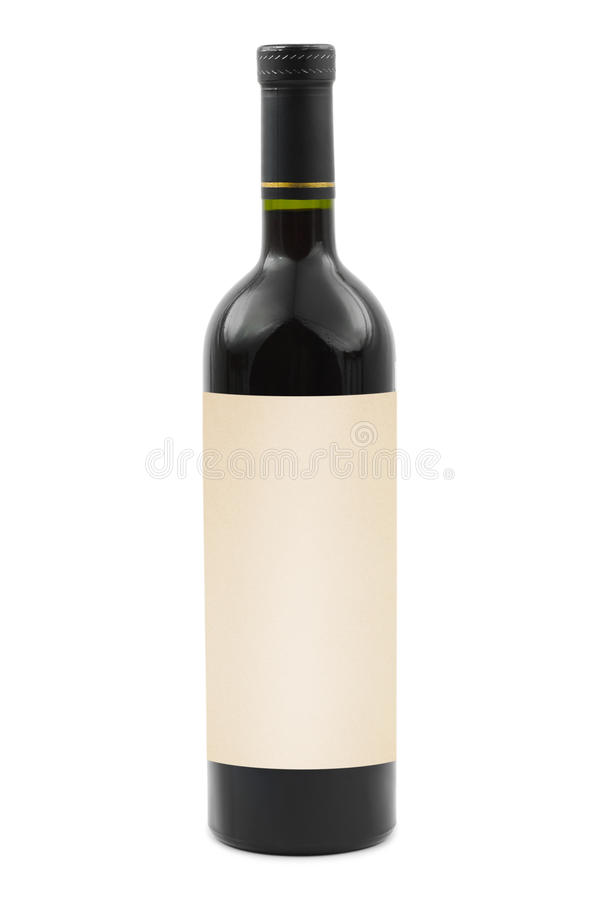 Μπουκάλι κρασιού με την κενή ετικέτα στοκ εικόνες με δικαίωμα ελεύθερης χρήσης
