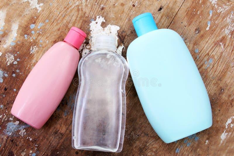 Μπουκάλι σαμπουάν μωρών στοκ εικόνες με δικαίωμα ελεύθερης χρήσης