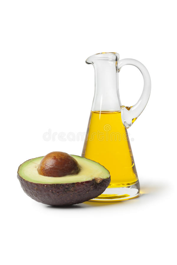 Μπουκάλι του πετρελαίου αβοκάντο στοκ εικόνα με δικαίωμα ελεύθερης χρήσης