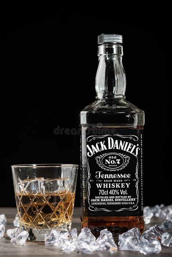Μπουκάλι του Jack Ντάνιελ στοκ φωτογραφία με δικαίωμα ελεύθερης χρήσης